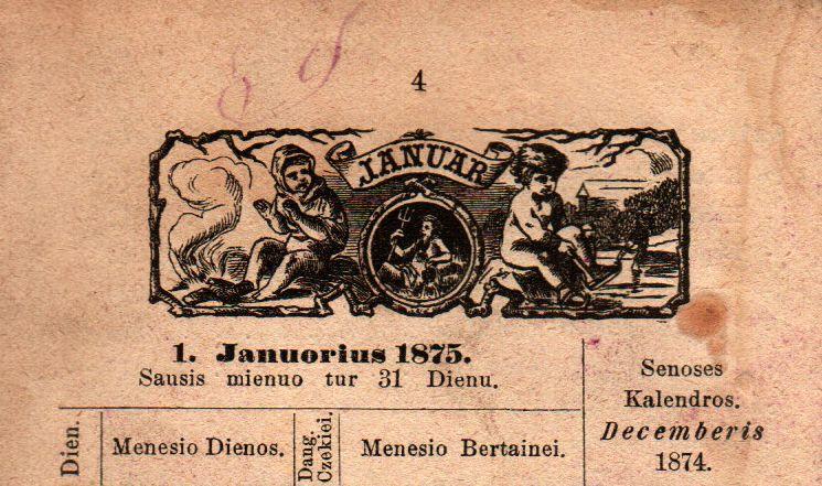 Kalendoriaus puslapis | lnb.lt nuotr.