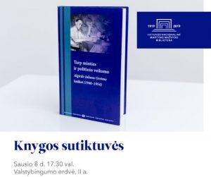 """Vyks knygos """"Tarp minties ir politinio veiksmo: Algirdo Juliaus Greimo laiškai (1946–1954)"""" sutiktuvės   lnb.lt nuotr."""