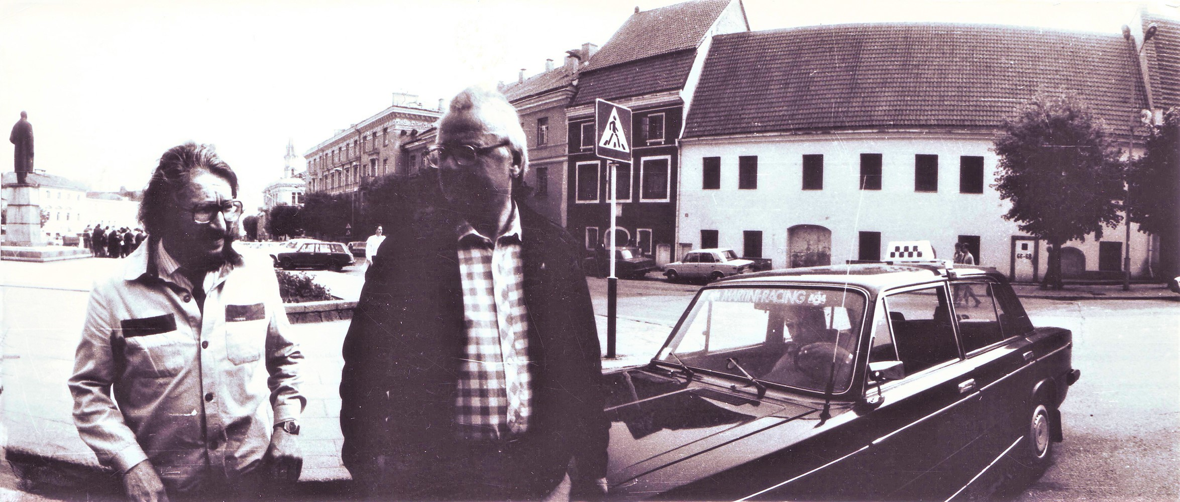 Bronius Kutavičius ir Sigitas Geda Vilniuje 1988 m. | A. Tarvydo nuotr.