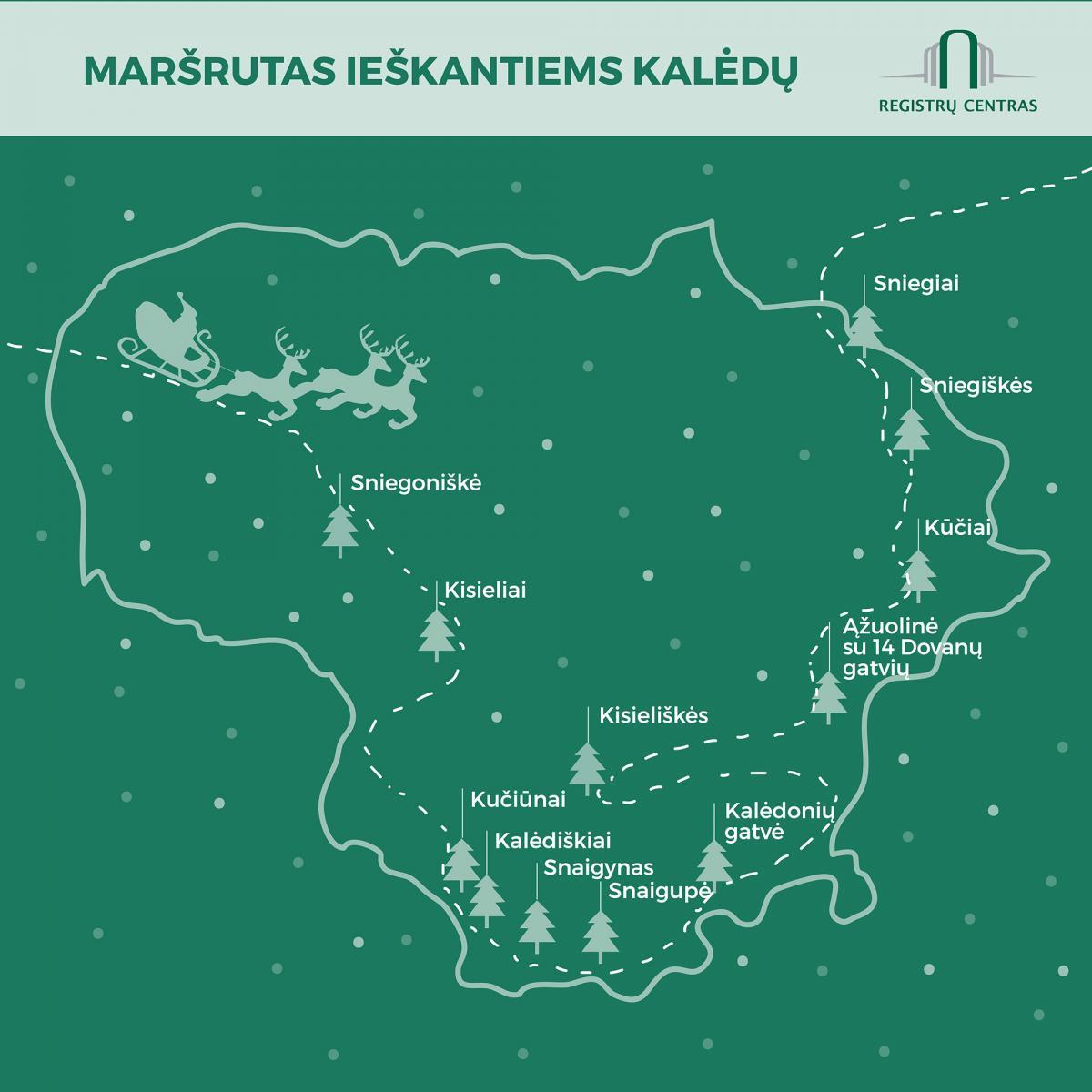 Kalėdinis kelionės maršrutas: dovanų į Ąžuolinę, sniego link Veisiejų | registrucentras.lt nuotr.