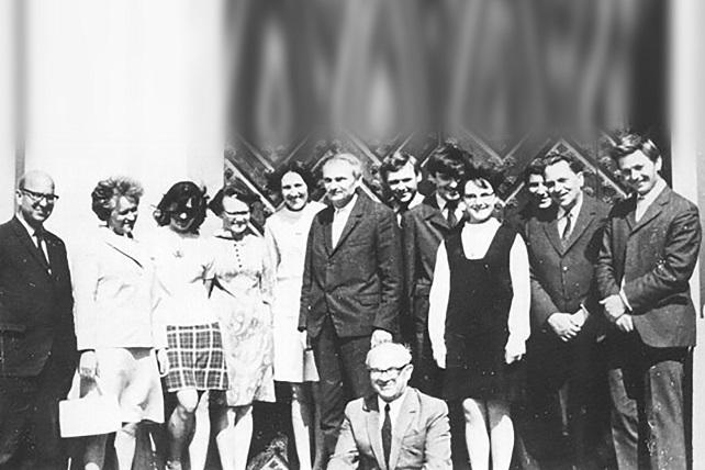Psichologijos ir pedagogikos katedra 1971 m. | VU nuotr.