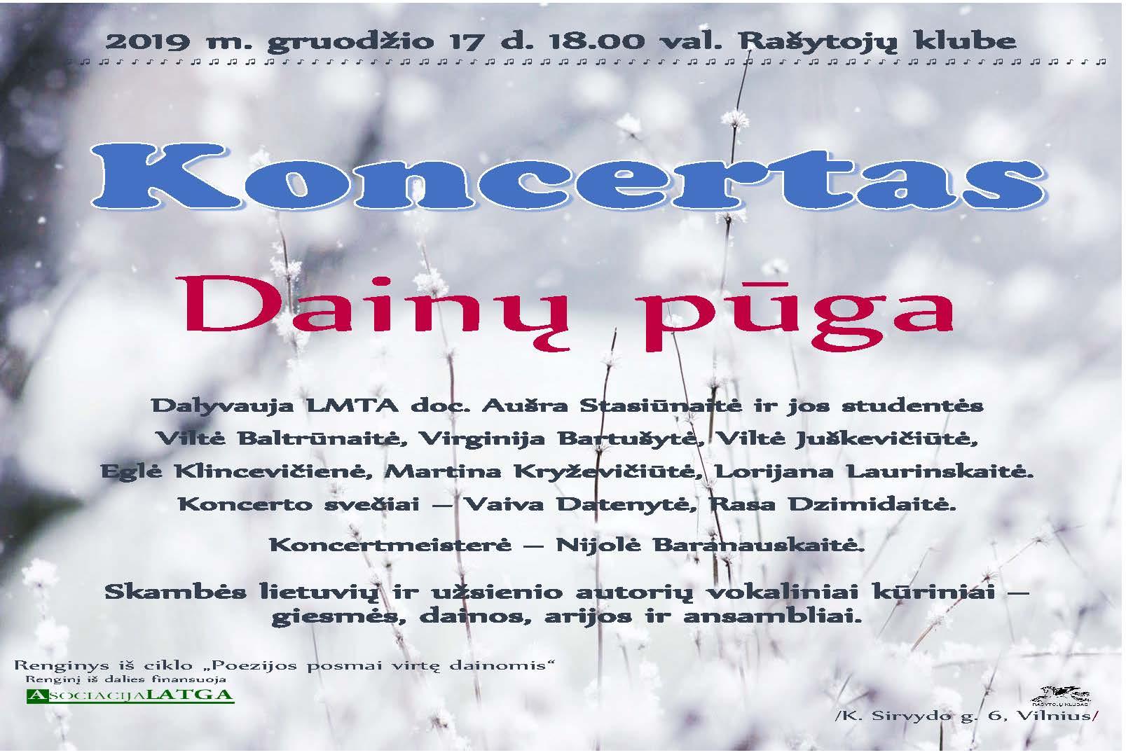 Koncertas Dainų pūga 2019 m.