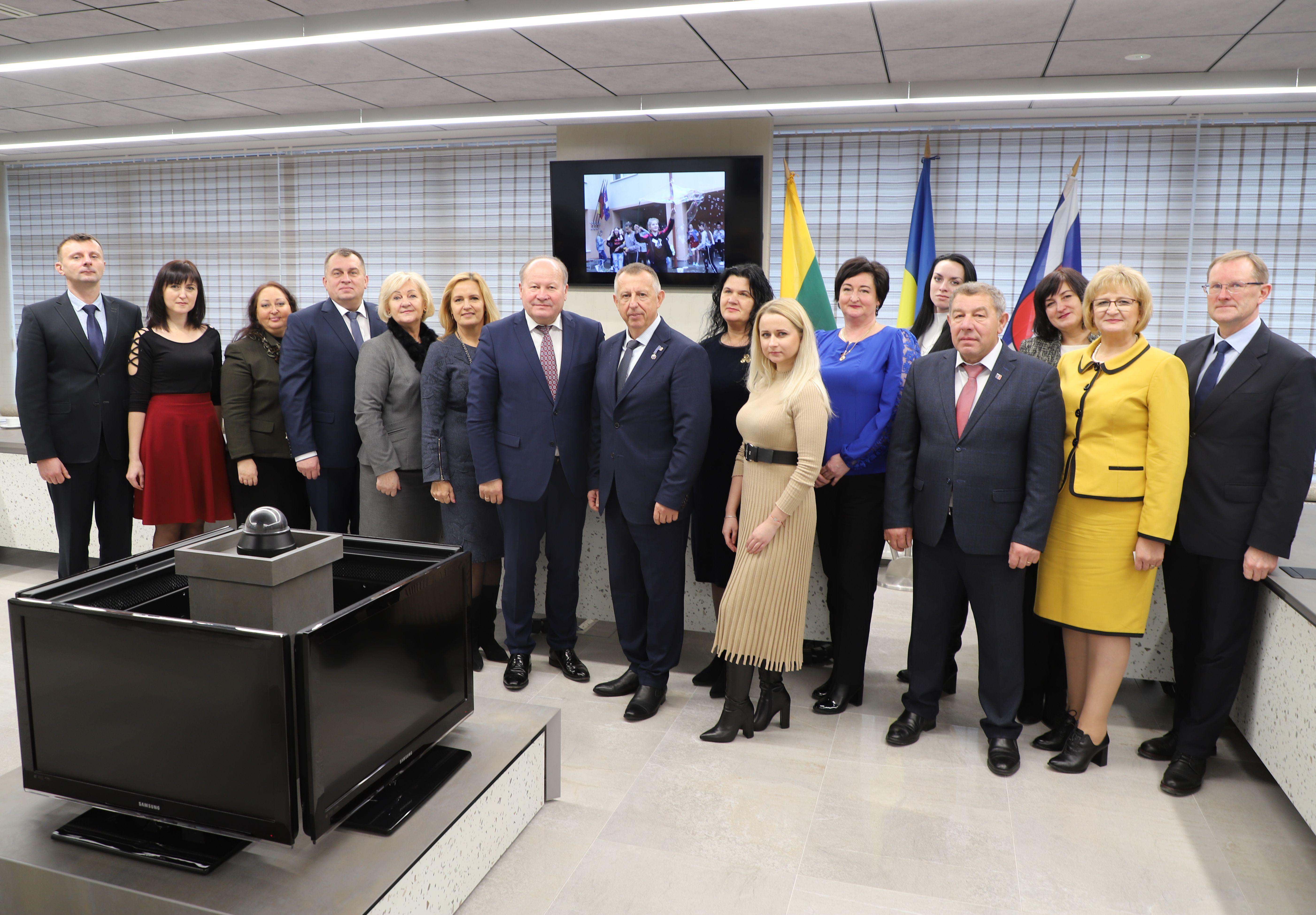 Ukrainos Užkarpatės 2019 delegacija Kauno rajono savivaldybėje | Kauno rajono savivaldybės nuotr.