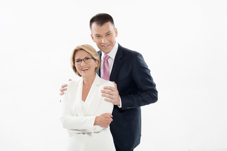 """""""Panoramą"""" veda Eglė Bučelytė ir Marijus Žiedas   LRT nuotr."""