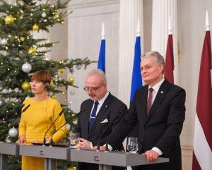 Latvijos, Estijos ir Lietuvos prezidentai | lrp.lt nuotr.