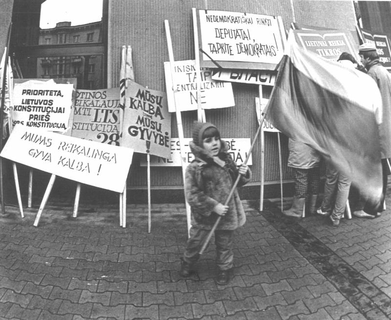 Mitinguoja visi, 1989 m.   J. Kazlausko nuotr.