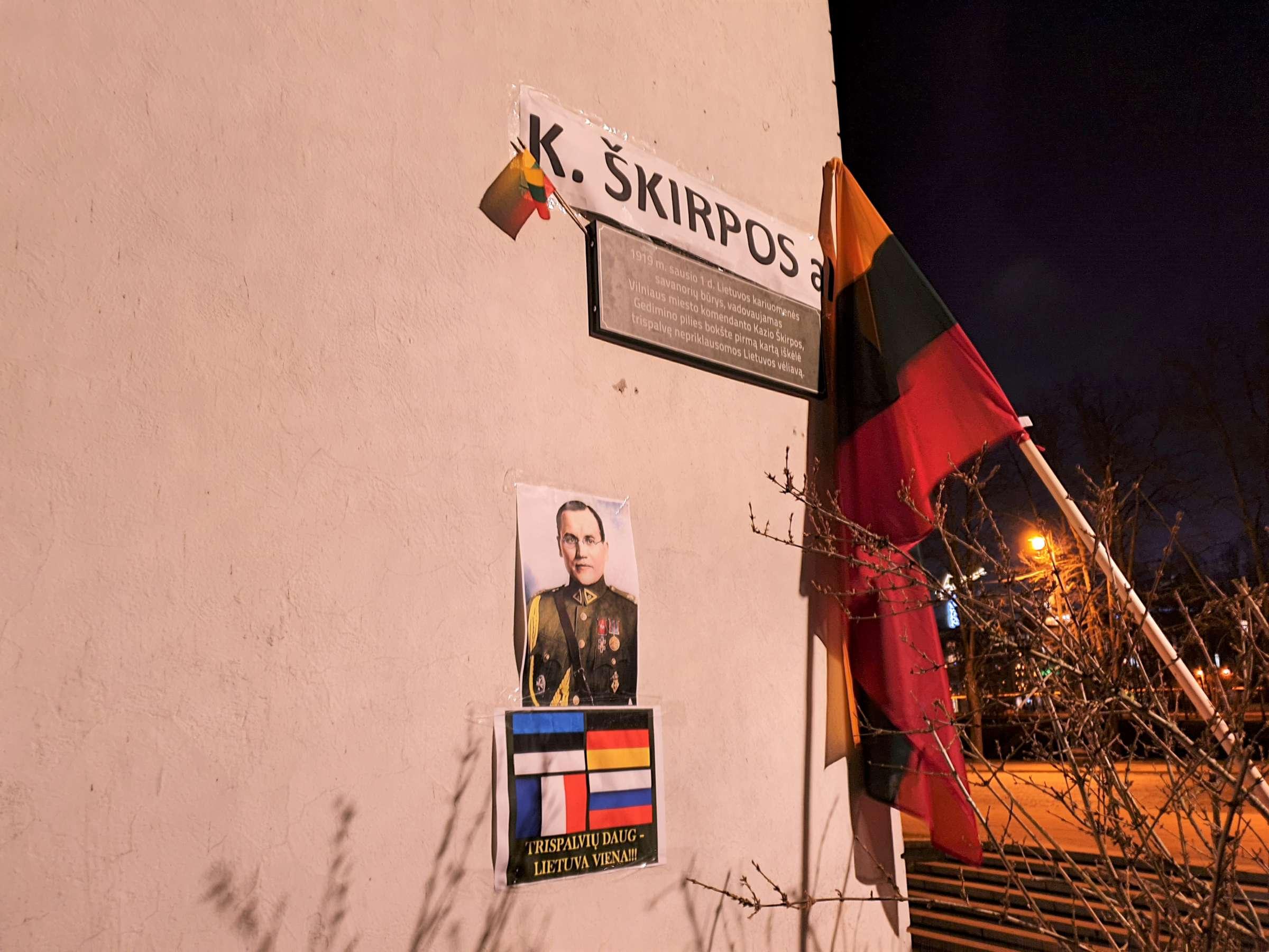 Vilniaus alėjai trumpam vėl gražintas buvęs Kazio Škirpos vardas   Alkas.lt nuotr.