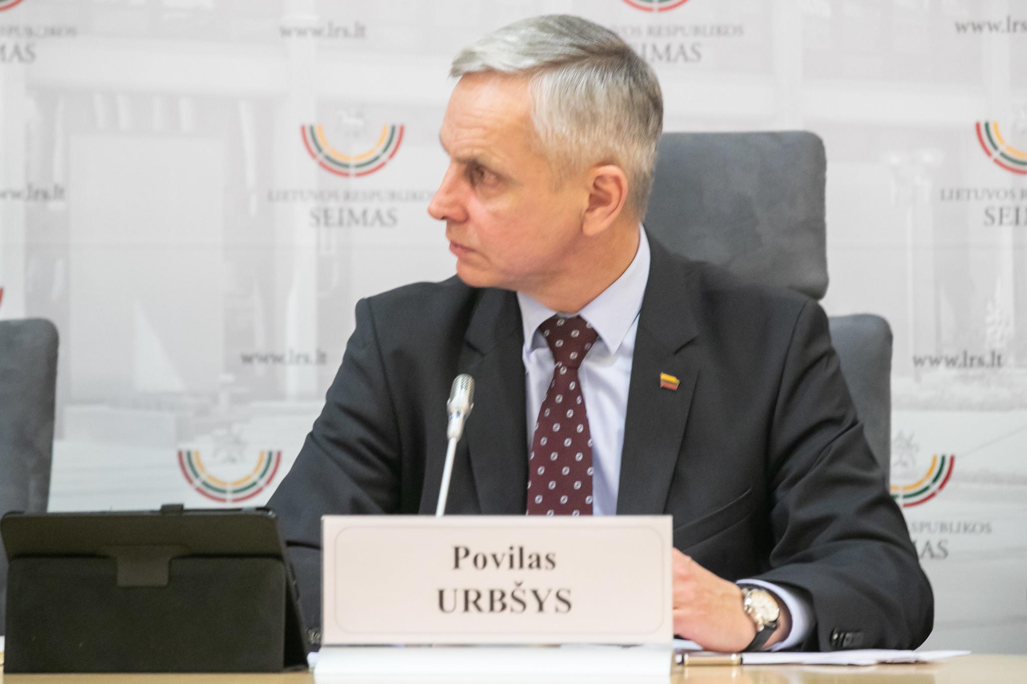 Povilas Urbšys | lrs.lt, Dž. G. Barysaitės nuotr.