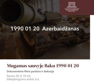 """Bus pristatytas filmas apie 1990 m. Baku žudynes """"Mugamas sausyje Baku 1990 01 20""""   lnb.lt nuotr."""