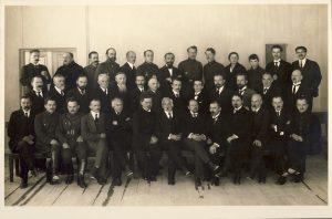 Aukštųjų kursų dėstytojai 1921 m. Iš KTU muziejaus rinkinių | VDU nuotr.