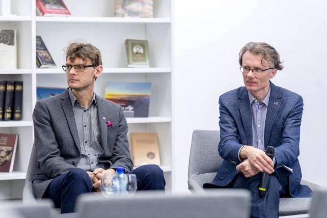 Tyrimą atlikę mokslininkai: iš kairės – dr. Vincas Grigas ir dr. Arūnas Gudinavičius | V. Juozaičio nuotr.