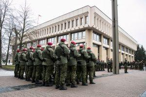 Krašto apsaugos savanorių pajėgų įkūrimo metinių minėjimas 2019 m. | lrs.lt, O. Posaškovos nuotr.