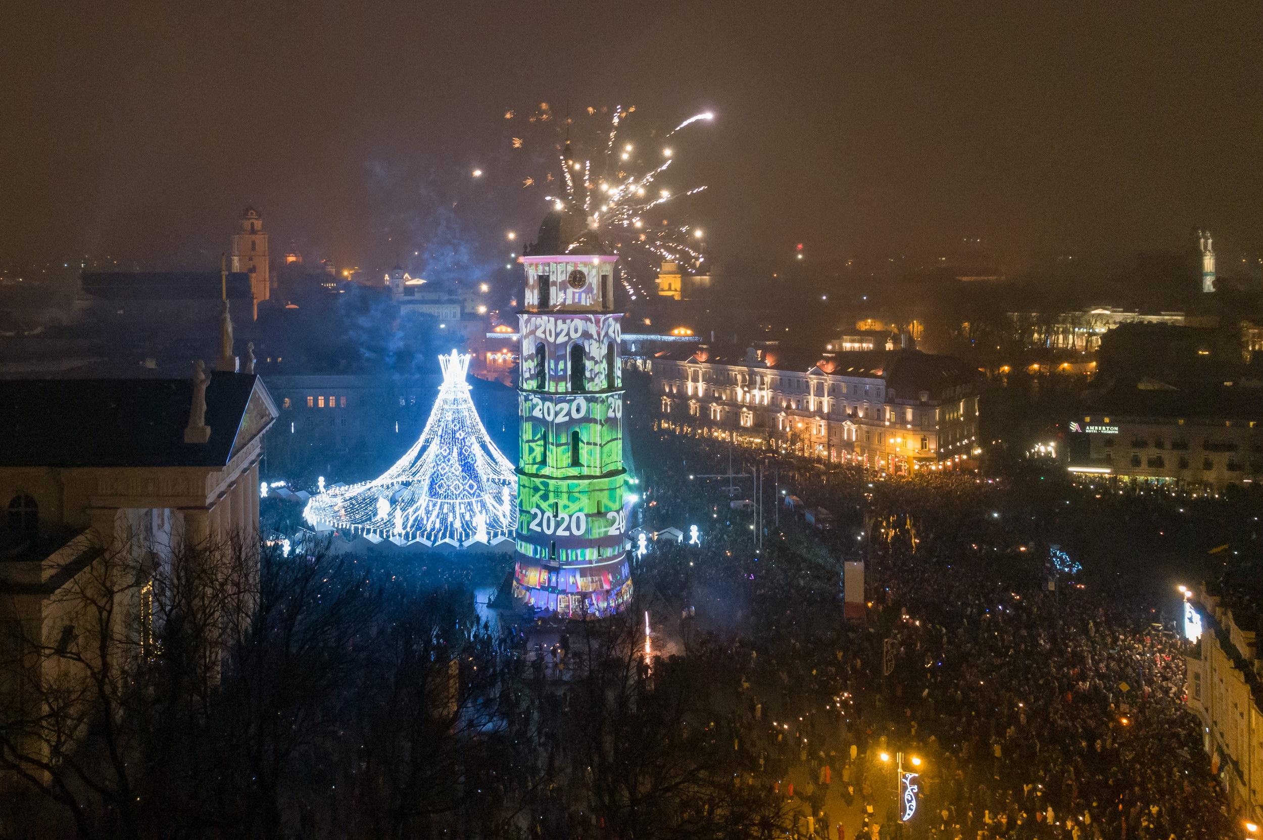 Naujųjų 2020-ųjų sutikimas Vilniuje | vilnius.lt nuotr.