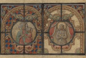 Oginskių koplyčios vitražo projekto fragmentas | Vilniaus paveikslų galerijos nuotr.