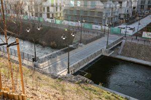 Tiltas per Vilnią. S. Žiūros nuotr.