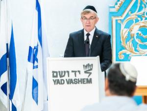 Seimo pirmininkas Viktoras Pranckietis 2018 metais lankėsi Yad Vashem muziejuje | lrs.lt, O. Posaškovos nuotr.
