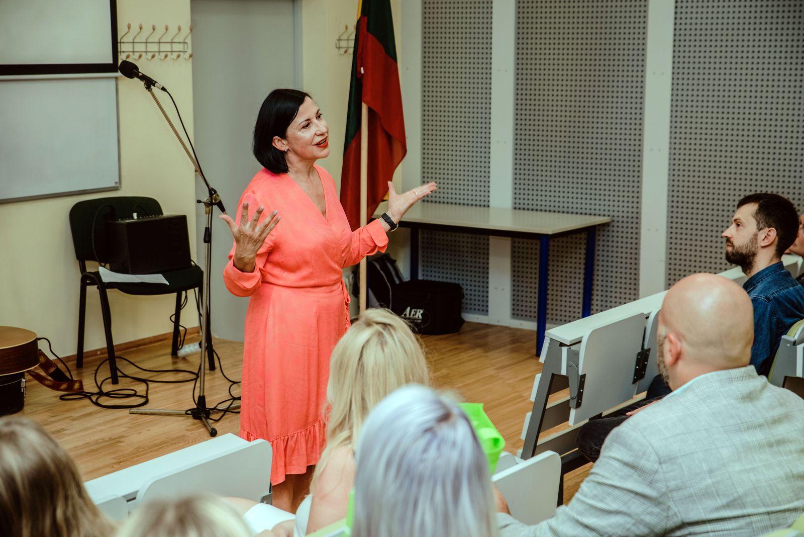 Lietuvių kalbos ir kultūros centro vadovė Vilma Leonavičienė   VDU nuotr.