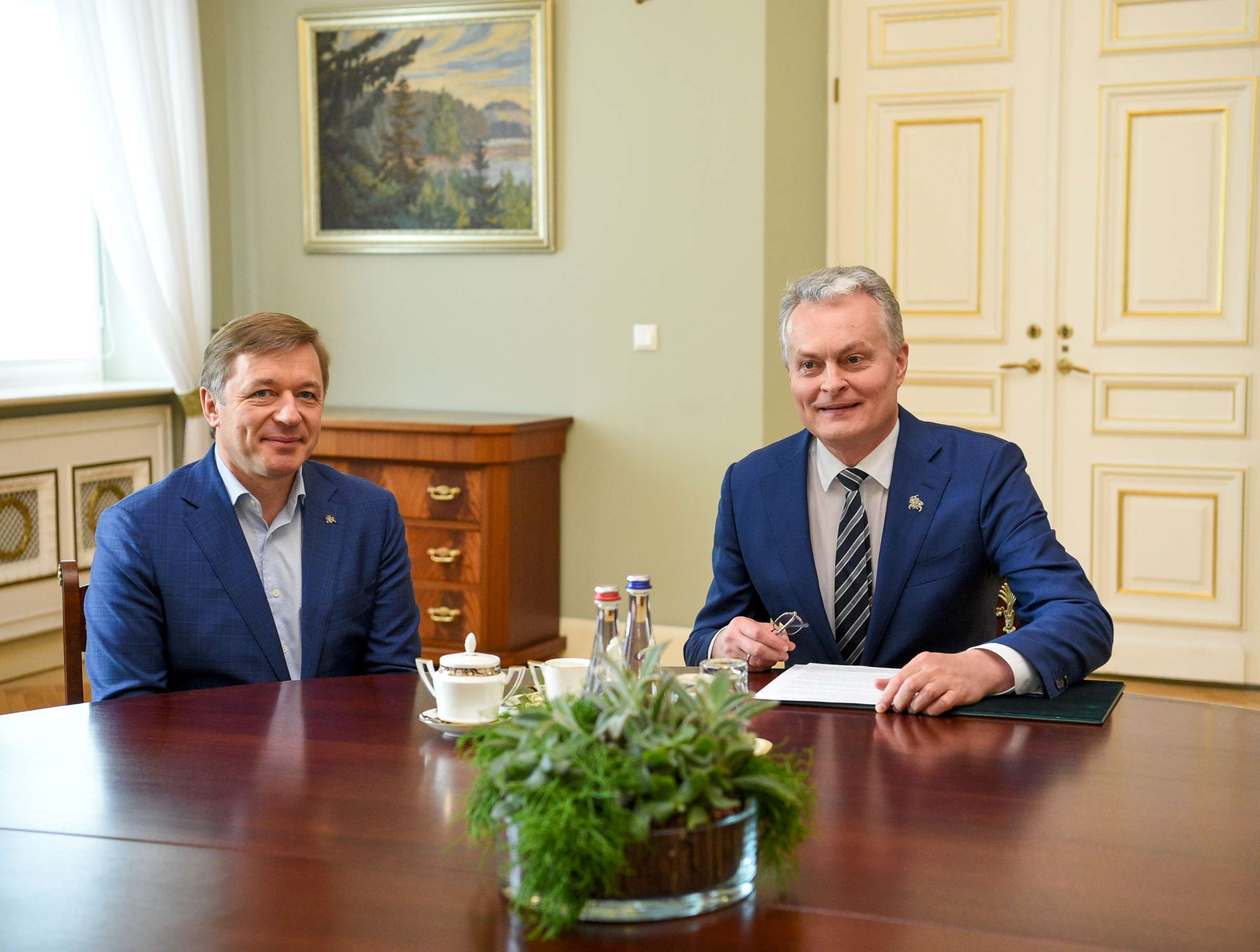 Prezidentas su valdančiųjų vadovu aptarė ateities darbus | lrs.lt, R. Dačkaus nuotr.