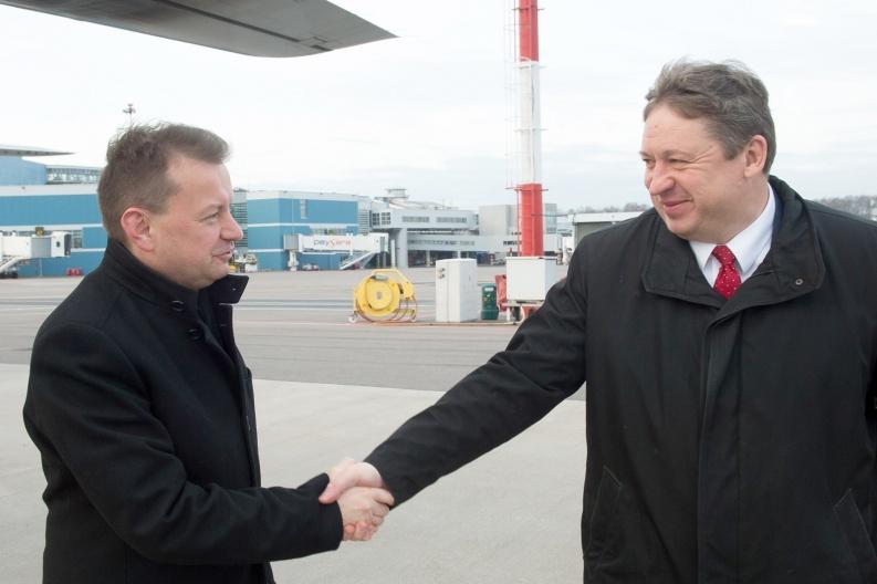 2019 m. lapkričio 22 d. Vilniuje susitikę Lietuvos ir Lenkijos gynybos ministrai   A. Pliadžio nuotr.