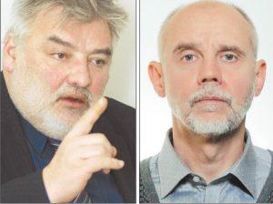 Profesorius Alfredas Bumblauskas ir profesoriaus doktorantas Eligijus Šmidtas | Redakcijos archyvo, feisbuko nuotr.