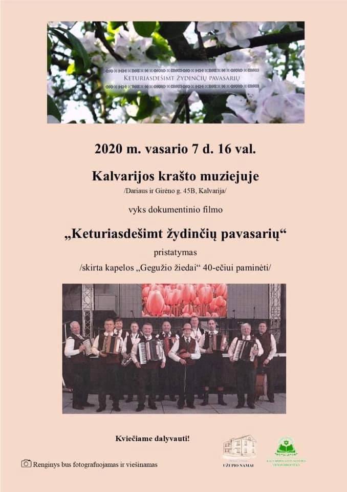 2020 02 08 Keturiasdešimt žydinčių pavasarių