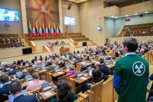 Baltarusijos aktyvistai ragina Lietuvą neprarasti vilties ir priešintis Astravo AE | lrs.lt nuotr.