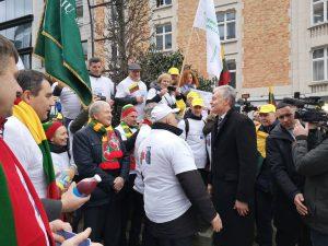 Žemdirbių protestas Briuselyje | Organizatorių nuotr.
