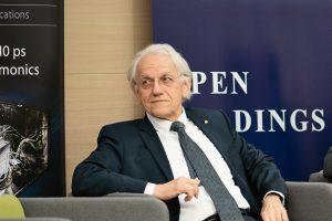 Nobelio fizikos premijos laimėtojas profesorius Žerardas Morau (Gérard Mourou)   VU nuotr.