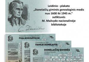 Nacionalinėje bibliotekoje bus pristatytas Donelaičių giminės medis | M. Mažvydo nacionalinės bibliotekos nuotr.
