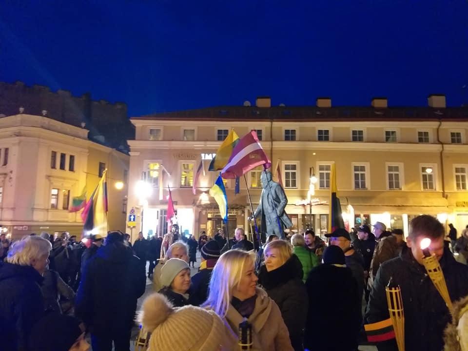 Eitynės Gedimino prospektu 2020 vasario 16 dieną_D.Biliūno 1 nuotr