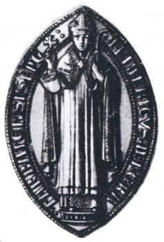 Karusės mūšio dalyvio Tartu vyskupo Frydricho fon Hazeldorfo antspaudas