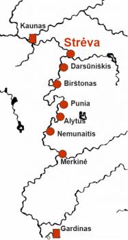 Nemuno vidurupio pilių gynybinė sistema XIV a.