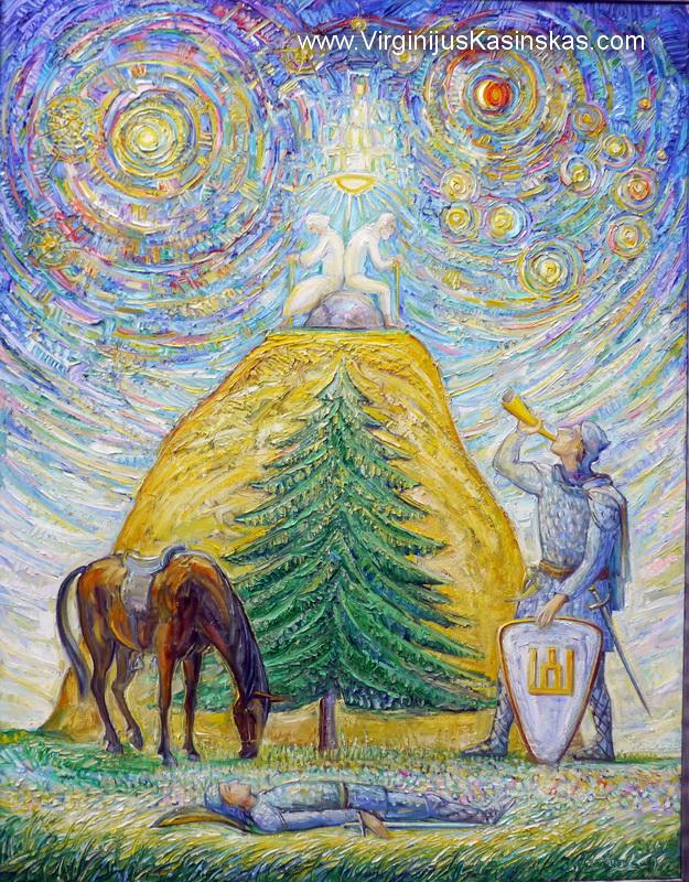 """""""Oi ant kalno ant aukštojo""""   V.Kašinsko paveikslas"""