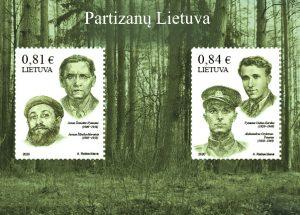 Pašto ženklų blokas partizanai | Lietuvos pašto nuotr.