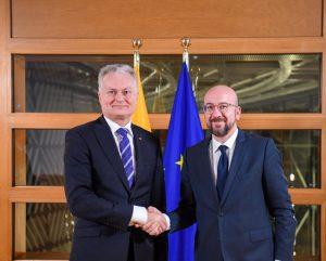 G. Nausėdos susitikimas su EVT pirmininku | lrp.lt nuotr.