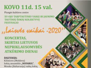 """Tarptautinė vaikų ir jaunimo tautinių šokių šventė """"Laisvės vaikai""""   Plungės kultūros centro nuotr."""
