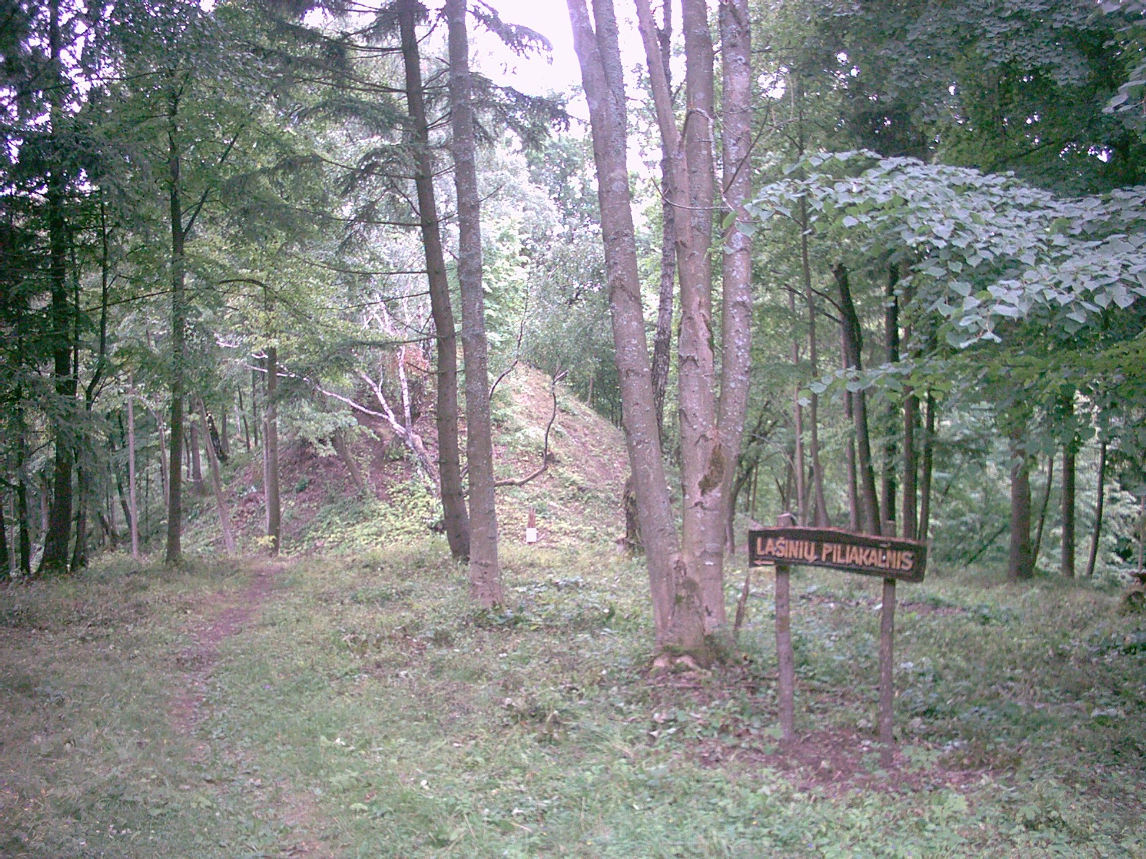 Lašinių piliakalnis – Strėvos pilies vieta. 2005 m. T. Baranausko nuotr.