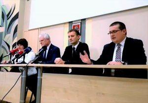 Spaudos konferencija Šiaulių ligoninėje | Alkas.lt ekrano nuotr.