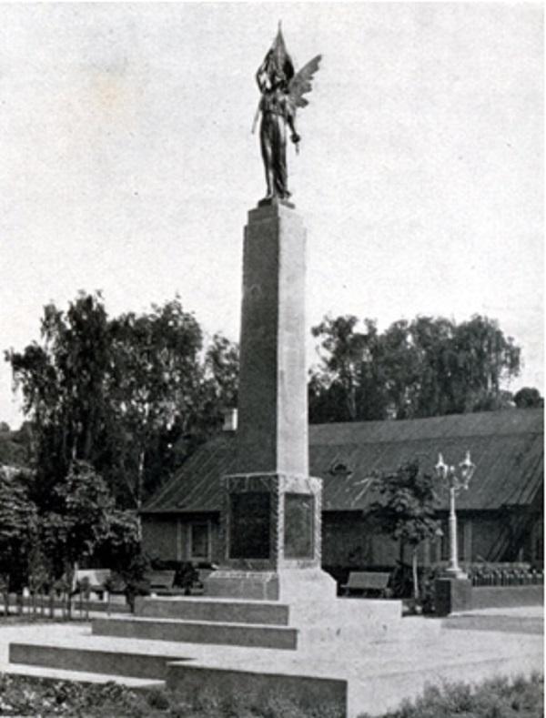 Laisvės statula. Apie 1933 m., Kaunas   Vytauto Didžiojo mirties 500 metų jubiliejaus albumo nuotr.