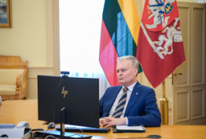 G. Nausėda. Konferencinis pokalbis | prezidentas.lt. nuotr.