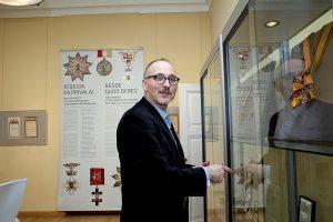 Nacionalinio M. K. Čiurlionio dailės muziejaus Numizmatikos skyriaus vadovas, humanitarinių mokslų daktaras Ignas Narbutas | R. Ropytės nuotr.