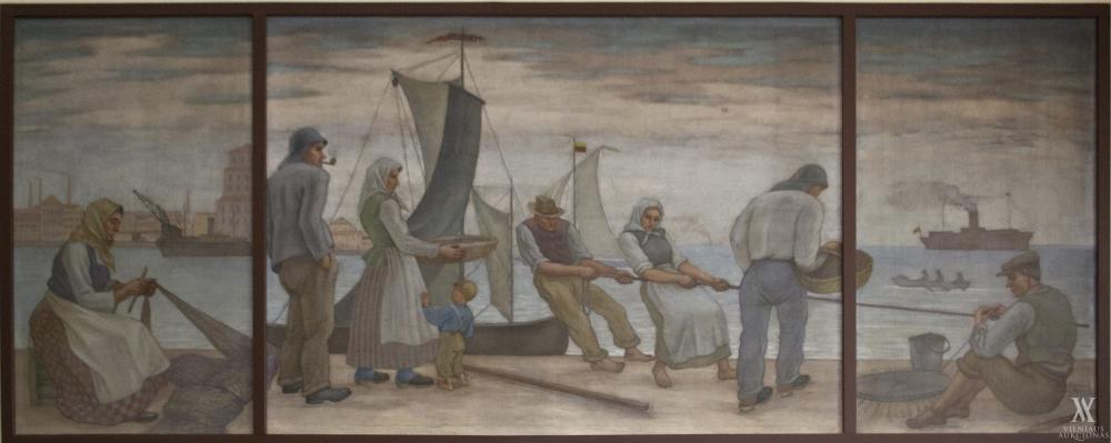 P. Kalpokas – Žvejai (2,56m X 7,53m) | Rengėjų nuotr.