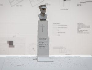 Skulptoriaus A. Kuzmos ir architektų studijos Arches Adolfui Ramanauskui – Vanagui paminklo idėja | lrv.lt nuotr.