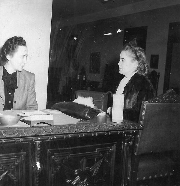 Jadvyga Tūbelienė su dukra Marija, Niujorkas, 1941 m. | ILRP nuotr.