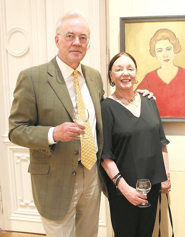 Tubelių vaikaitis Kulmanas (Kuhlmannas) su žmona 2017 m. | ILRP nuotr.
