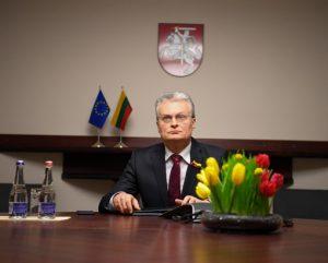G. Nausėda. Telefoninė konferencija | prezidentas.lt nuotr.