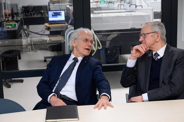 Nobelio fizikos premijos laureatas prof. Ž. Muru ir akad. A. Piskarskas dalinasi įžvalgomis apie lazerių raidą | lma.lt, N. Garejevo nuotr.