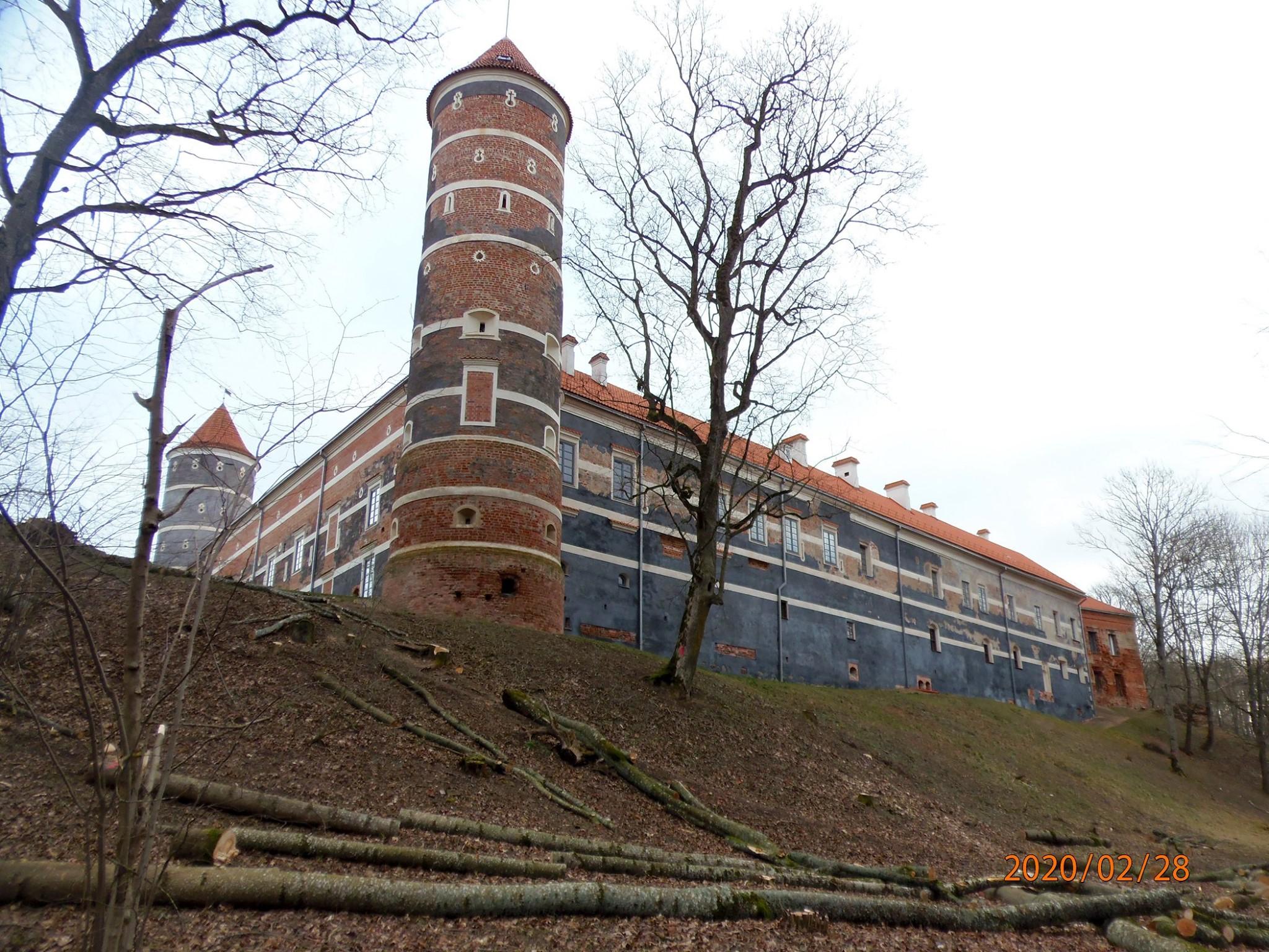 Restauruojama Panemunės pilies sienų tapyba | kpd.lt nuotr.