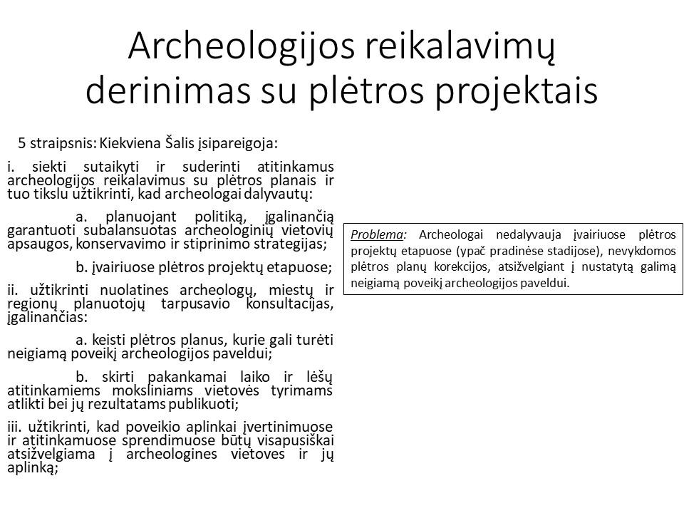 Archeologijos reikalavimų derinimas su plėtros projektais | vkpk.lt nuotr.