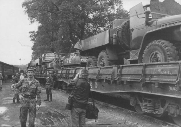 Sovietų kariuomenės išvedimas 1993 m. rugpjūčio mėn. | kam.lt nuotr.